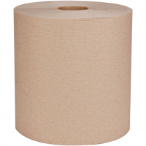 #880N VonDrehle® Preserve® Hardwound Towels, Brown, 800' Per Roll