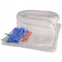 HUB Oil Only Spill Kit #1 -- (10) Pads, (2) Socks, Disposable Gloves, & Disposal Bag