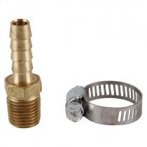 """1/4"""" x 1/4"""" Barb and Clamp Air Hose Repair Kit"""