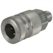 "3/8"" Body x 1/4"" MPT Steel Coupler"