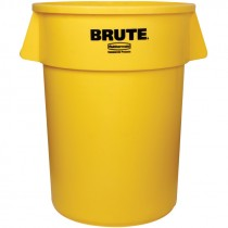 Yellow Rubbermaid® Brute® Trash Can - 44 Gal.