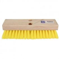 "10"" x 2"" Acid-Proof Polypropylene Deck Brush"