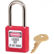 #410KARED PADLOCK (1 1/2 SHACKLE) KEYEDALIKE