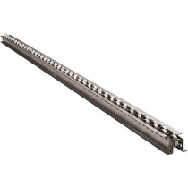 10 FT X 2 1/2 IN. 12G STEEL WHEEL FLOW RAIL - GALVANIZED