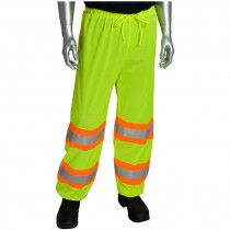 "319 MESH PANTS LIME GREEN 3XLW/ (2)  2"" TWO TONE REFECTIVE STRIPES EACH"