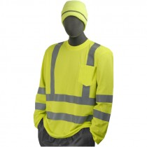Class 3 Hi-Vis Long Sleeve T-Shirt, Large