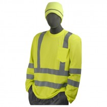 Class 3 Hi-Vis Long Sleeve T-Shirt, X-Large