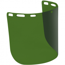 """8"""" x 15"""" Green 3.0 Polycarbonate Face Shield, Non-Bound, Molded - Cylindrical Shape, Universal Fit"""