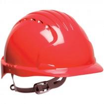 #6121 Red Slip Ratchet Hard Hat