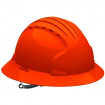 JSP® Pre-Assembled Full Brim Slip Ratchet Hard Hat, Orange