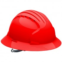 JSP® Pre-Assembled Full Brim Slip Ratchet Hard Hat, Red