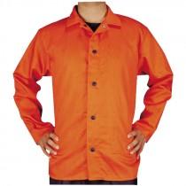 4-XL Orange Cotton Welding Jacket