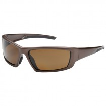 Bouton Sunburst Safety Glasses, Polarized Brown