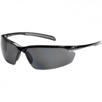 COMMANDER POLARIZED SAFETY GLASSES BLACKFRAME/POLARIZED SMOKE LENS