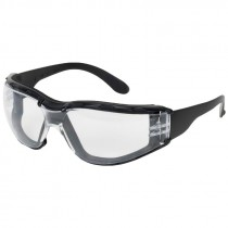 Zenon Z12 Clear Safety Glasses, Black Frame