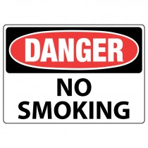 "10"" x 14"" Aluminum Danger No Smoking Sign"