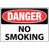 "7"" x 10"" Danger no Smoking Sign"