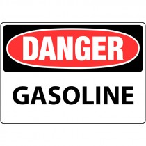 "7"" x 10"" Rigid Plastic Danger Gasoline Sign"