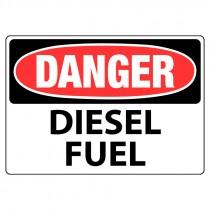 "10"" x 14"" Aluminum Danger Diesel Fuel Sign"