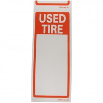 """Used Tire Labels (6"""" x 2-1/2"""")"""