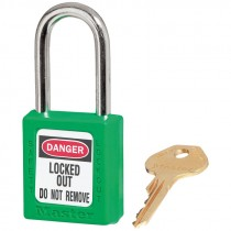 410 GREEN SAFETY PADLOCK KEYED DIFFERENT