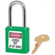 410 GREEN SAFETY PADLOCK KEYED DIFFERENT
