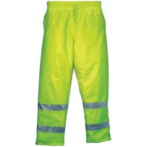 "Insulated Elastic Waist Pants, Hi-Vis Yellow, 3-XL (33.375"" Inseam)"