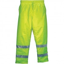 "Insulated Elastic Waist Pants, Hi-Vis Yellow, 4-XL (34"" Inseam)"