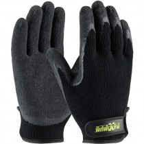 C1375-S Maximum Safety Black Small Cotton/Poly Latex Crinkle Grip Gloves