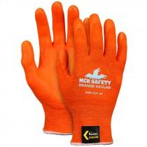 Orange Kevlar® Glove, Orange Nitrile Foam Coated Palm, TouchScreen Compatible, Medium