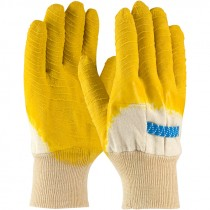 3271 Crinkle Finish Knit Wrist Latex Dipped Gloves