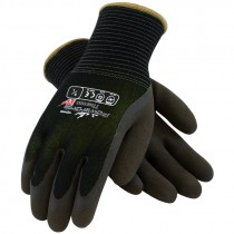 41-1430-L HI VIS MICROFINISH GLOVESW/ACRYLIC LATEX COATED LG