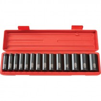 "1/2"" Drive Deep Impact Socket Set (3/8""-1-1/4"") 6 pt."