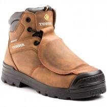 """Barricade Met 6"""" Work Boot, Met-Guard, Composite Toe, Puncture Resistant Sole, Brown, Men's Size 9.5"""