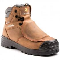 """Barricade Met 6"""" Work Boot, Met-Guard, Composite Toe, Puncture Resistant Sole, Brown, Men's Size 13"""