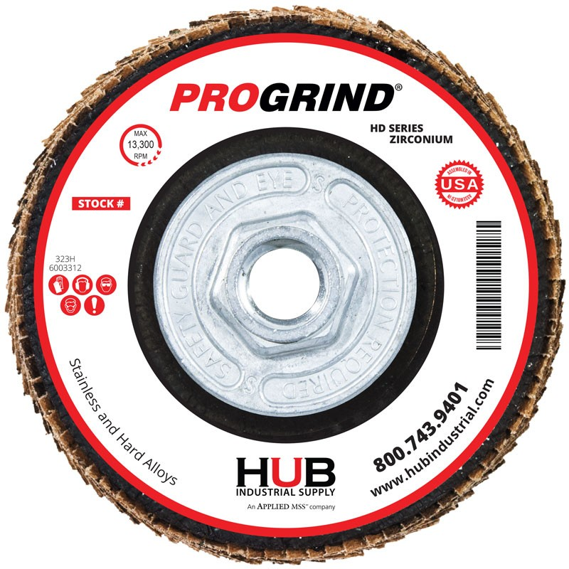 "4-1/2"" x 5/8-11"" 40# T27 Zirconia Flap Disc | ProGrind® HD Series™"