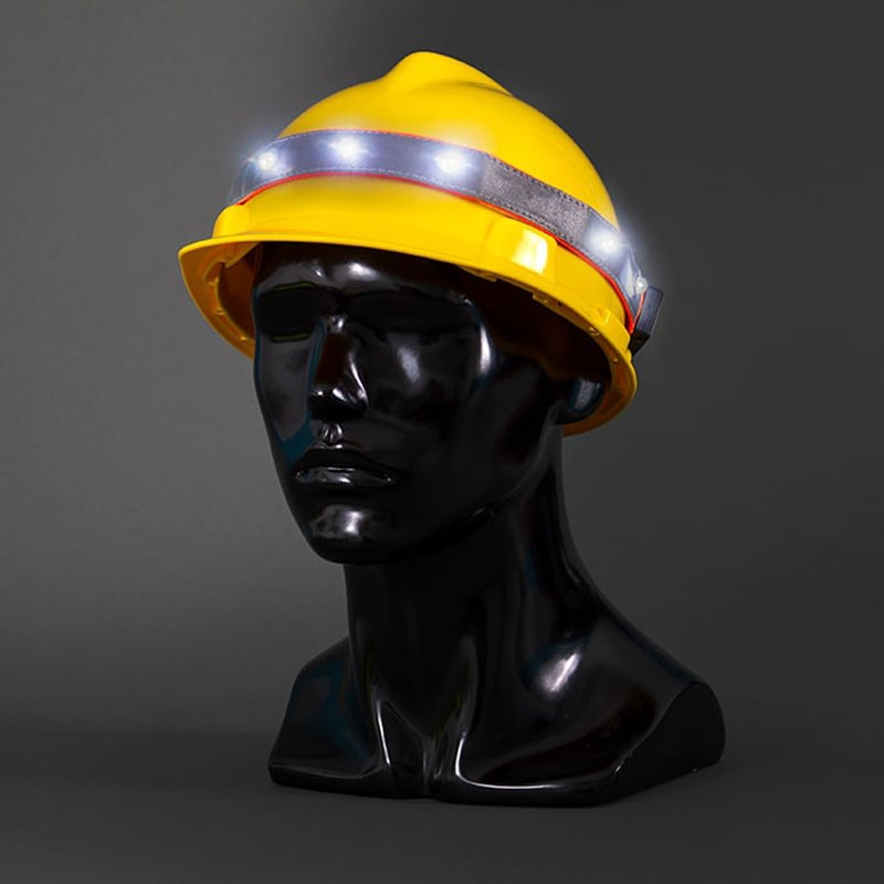 LED Hardhat Band w/ 3M® Reflective, Rechargeable