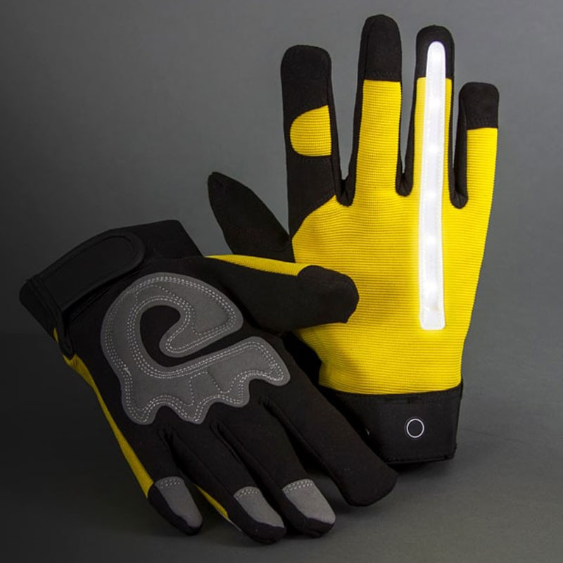 Rechargeable LED Lighted Gloves, Large