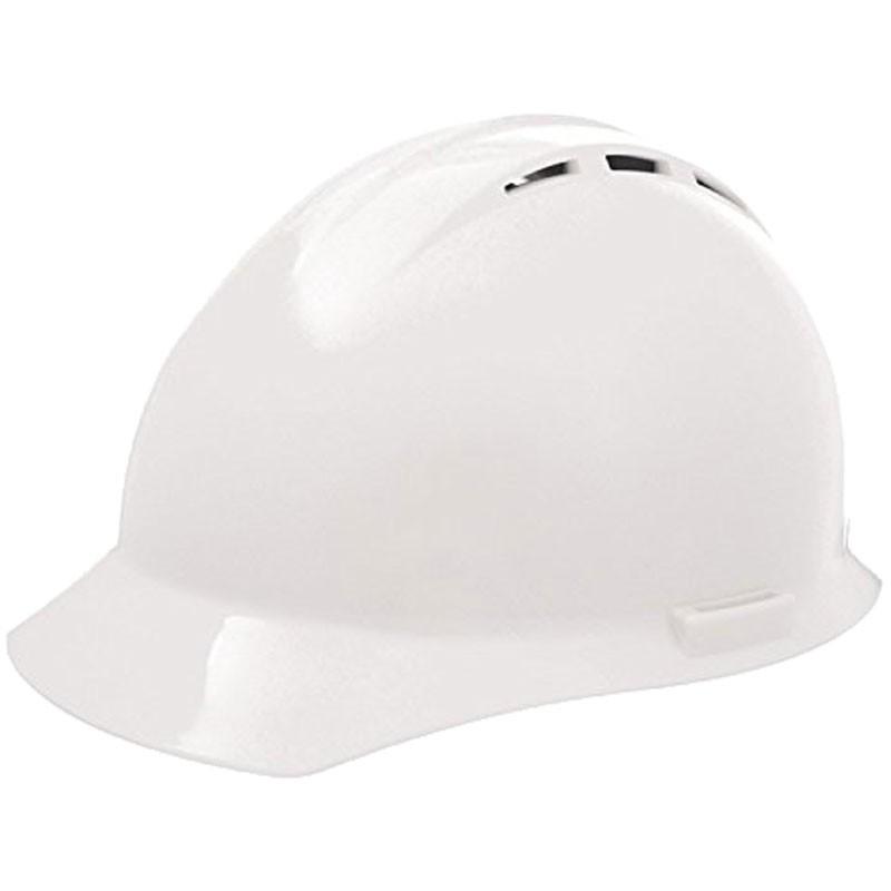 #19451 WHITE VENTED HARD HAT W/RATCHET4-PT SUSPENSION
