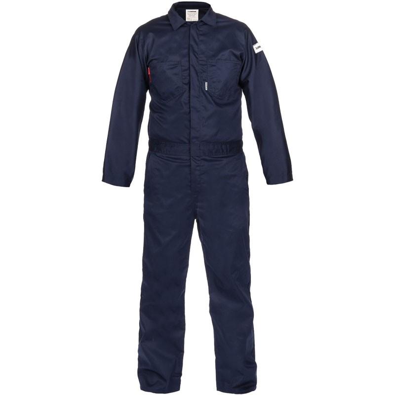7 oz. Navy 100% FR Cotton Coverall - Lightweight, Dual-Certified, 4-XL