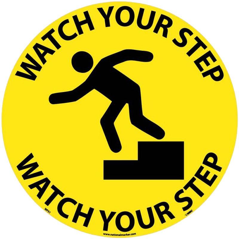 "17"" Watch Your Step Floor Sign"