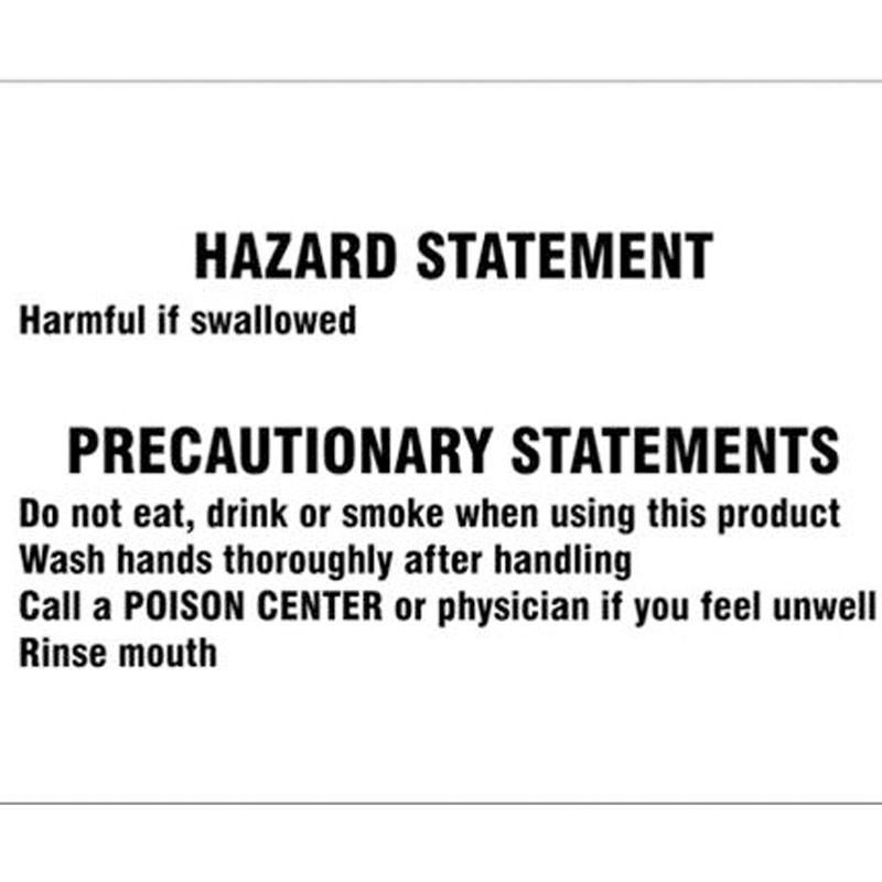 "10"" x 14"" Antifreeze Hazard Statement, Adhesive Vinyl"