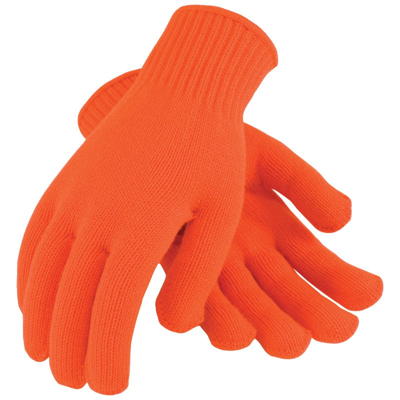 Orange 7 Guage Acrylic Thermal Glove Liner, X-Large