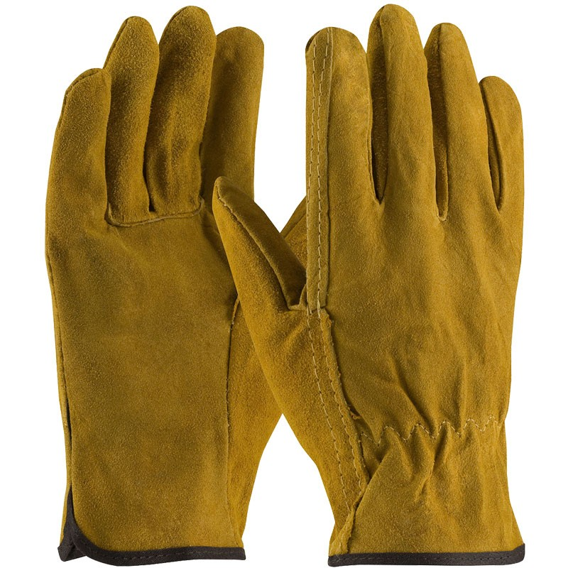 138-M Split Cowhide Medium Drivers Gloves
