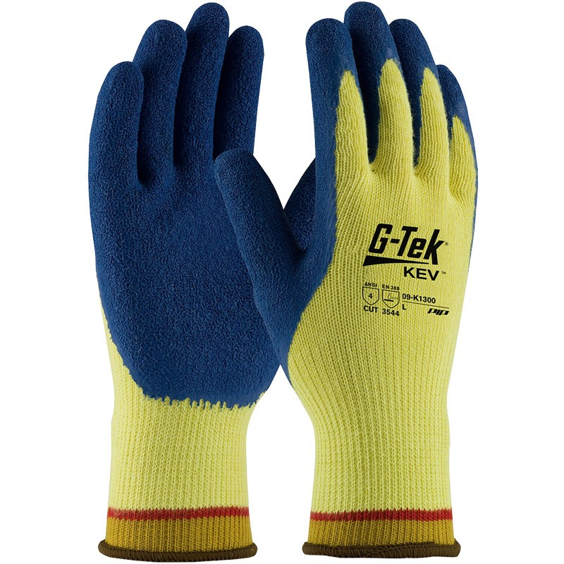 Kevlar® Knit Latex Rubber Coated Cut-Resistant Gloves, X-Large