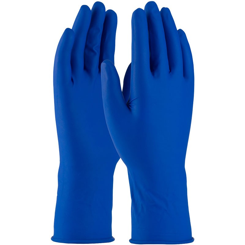 "13 Mil Disposable Latex Glove, 12"" Length, Powdered, Textured Grip, X-Large"