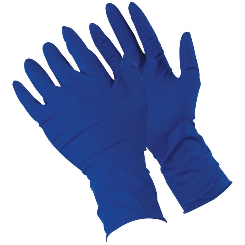 "13 Mil Disposable Latex Glove, 12"" Length, Powdered, Textured Grip, Large"