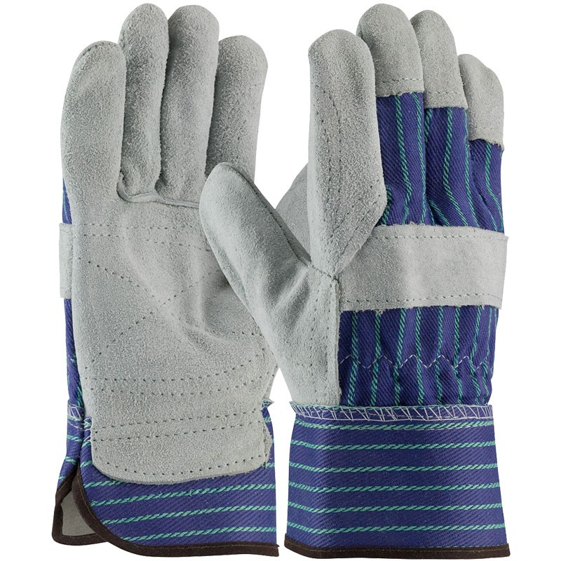 Inner-Double Palm Leather Work Gloves, Universal Size
