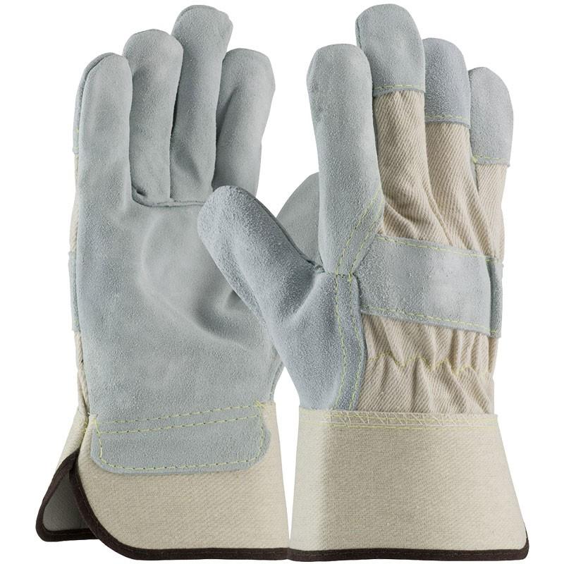 Premium Single Palm Leather Work Glove, Kevlar Stitching, Large