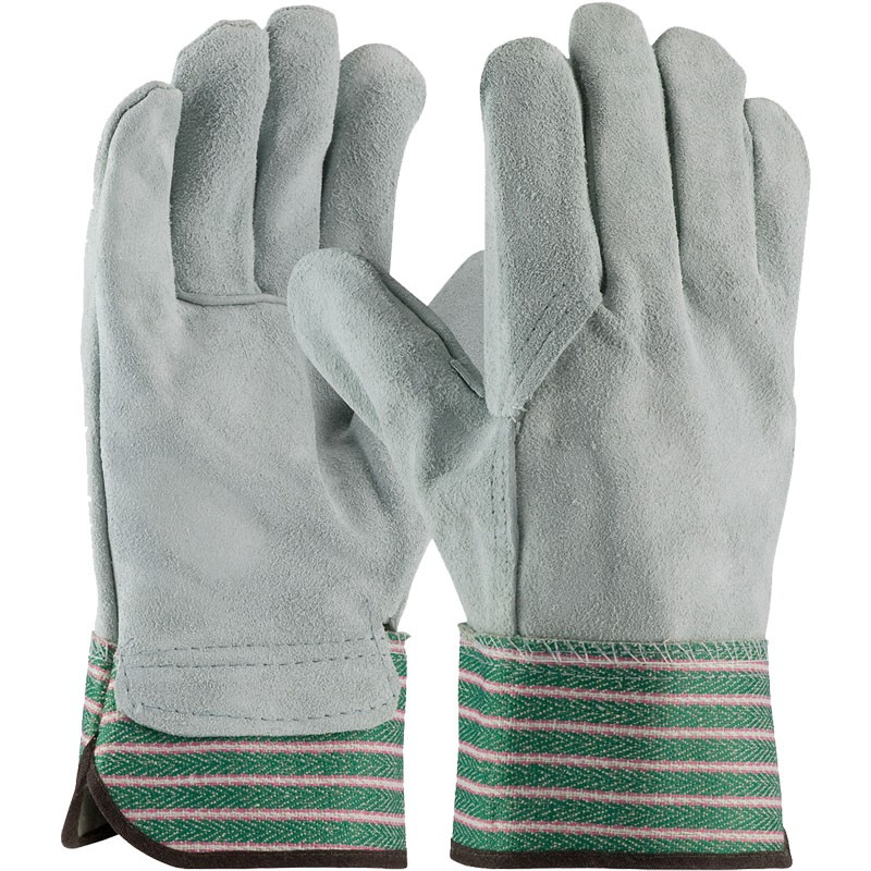 Single Palm Leather Work Glove w/ Full Leather Back, Universal Size